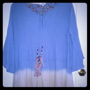 Umgee Ombre Boho Dress  L